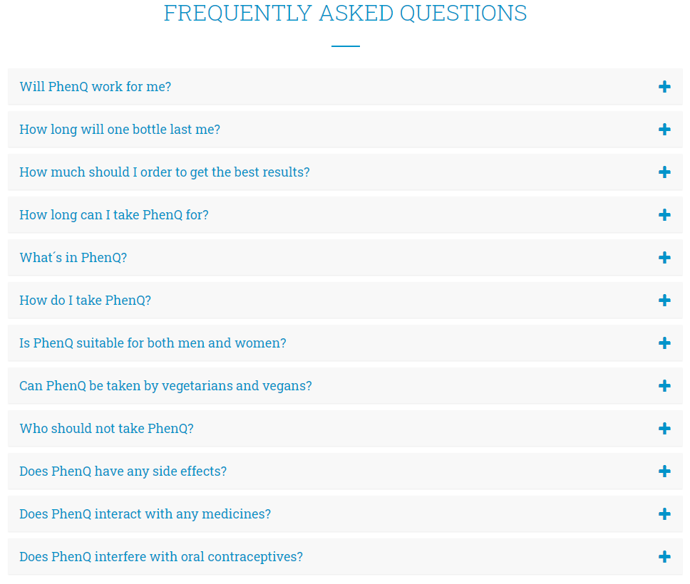 PhenQ Questions & Answers